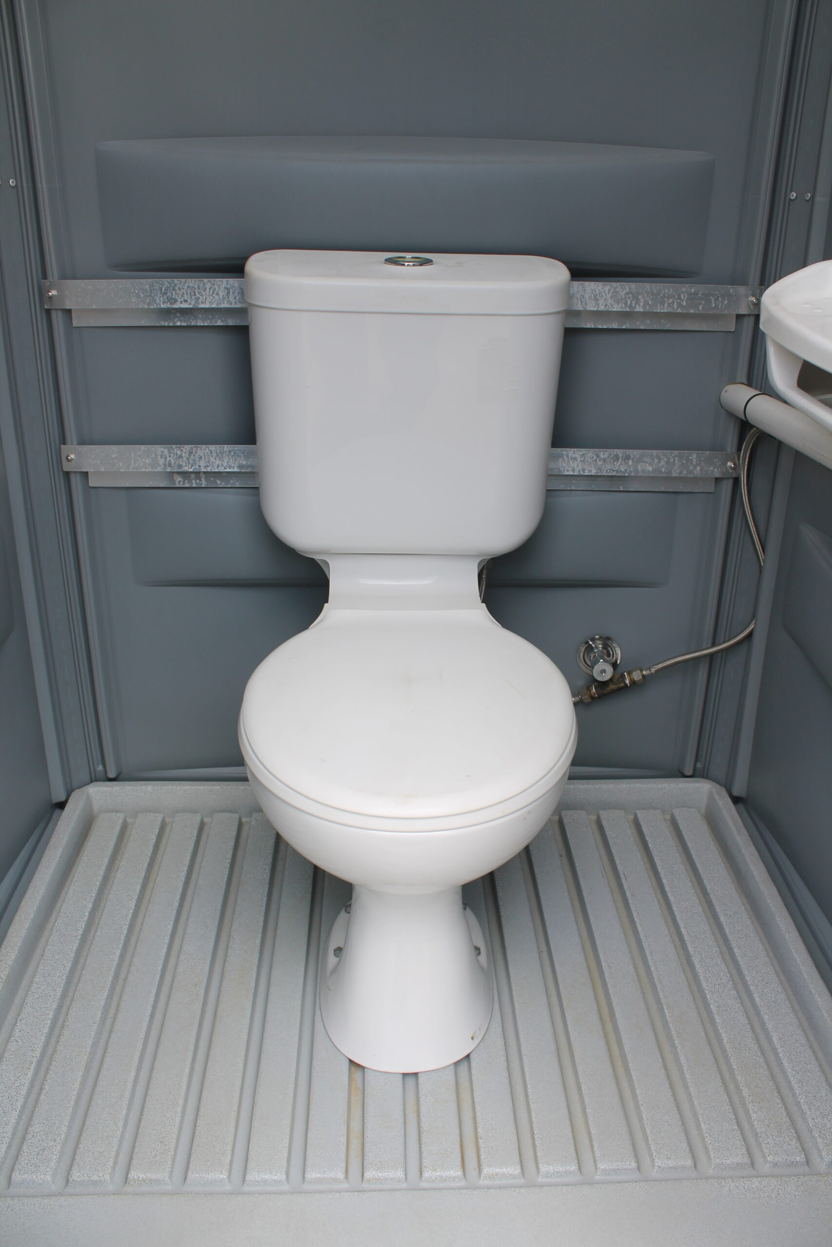 Inside Portable Toilet