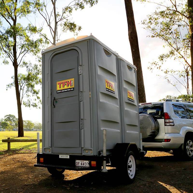 Portable Toilet Trailer Double