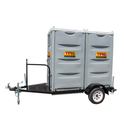 hire portable toilet trailers