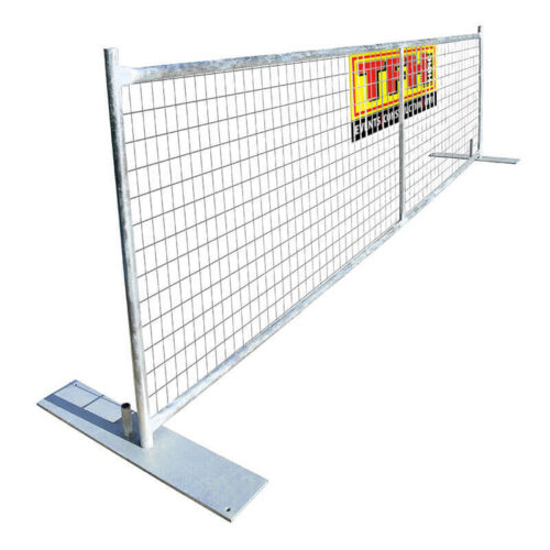 temporary demarcation fencing hire
