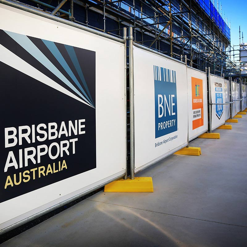 Temporary Hoarding Fencing at Brisbane Airport