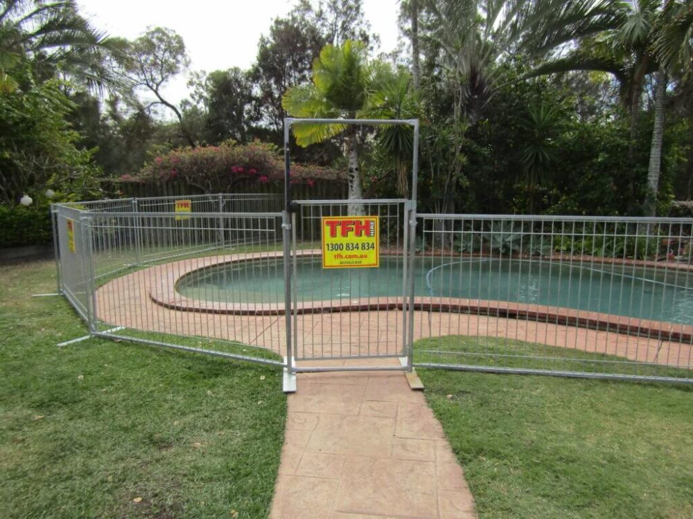 Temporary Pool Gates