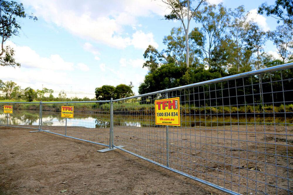 temporary demarcation fencing hire